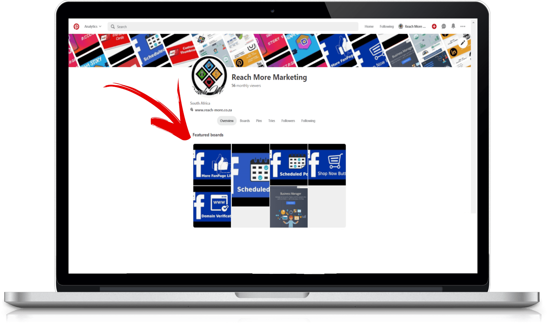 Pinterest For Business - Featured Boards