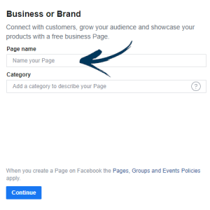 Business Page name